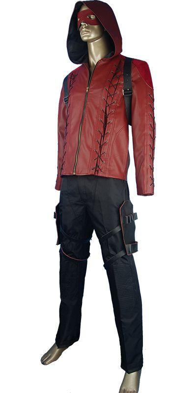 Arrow jacket hoodie Arsenal leather jacket hoodie Roy Harper cosplay costume  halloween costume christmas xmas gift