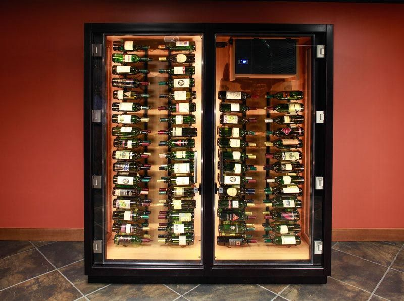 These Custom Frameless Glass Door Wine Cabinets Are The