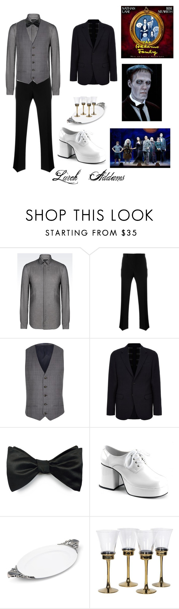 """""""Lurch"""" by falling-is-my-art ❤ liked on Polyvore featuring Emporio Armani, Givenchy, River Island, Alexander McQueen, Louise & Zaid, Vagabond House, men's fashion and menswear"""