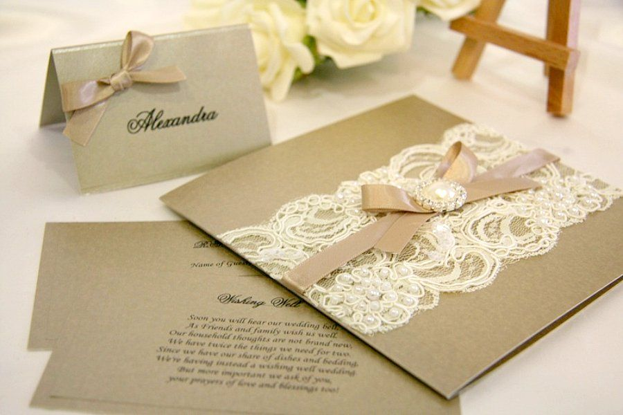 Gallery Of Simple And Elegant Handmade Wedding Invitation
