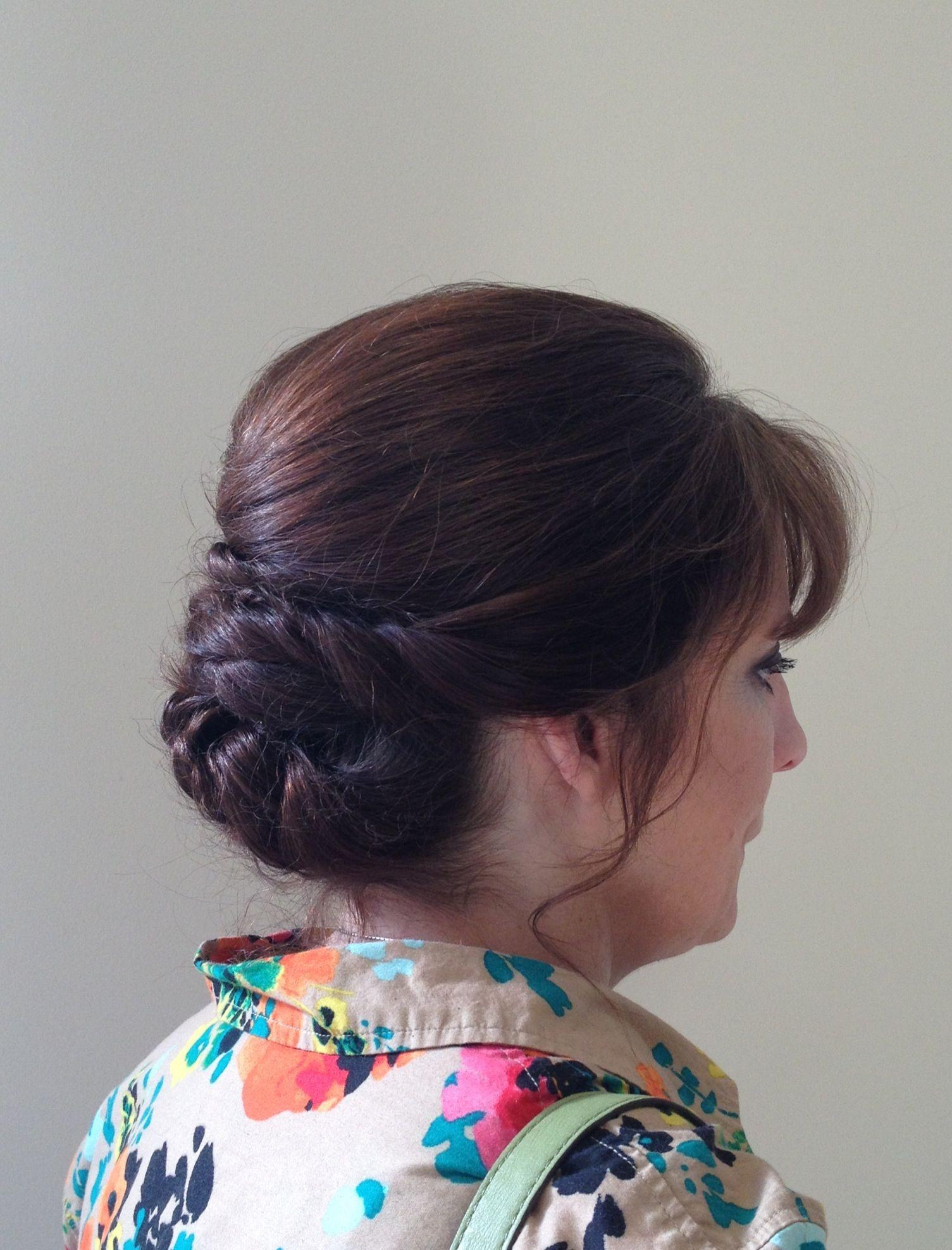 Sophisticated #updo #upstyle #wedding #bride #bridesmaid #maidofhonor #prom #lexievhair