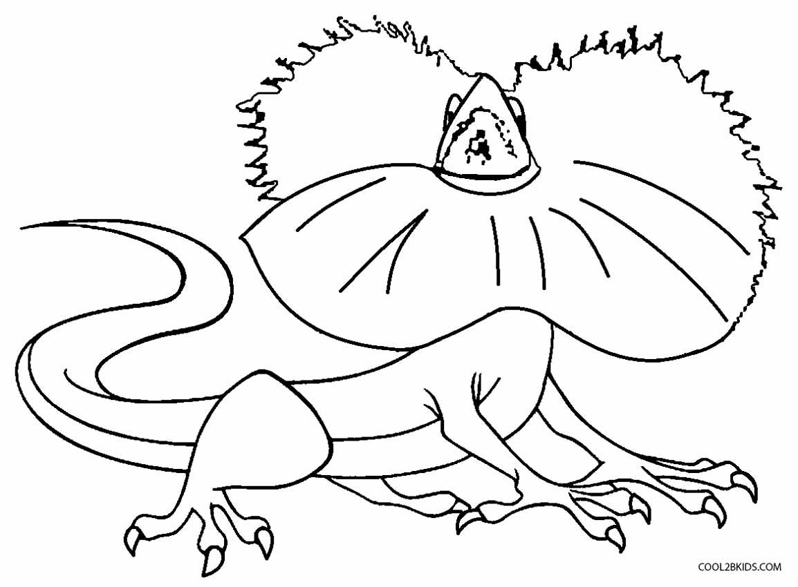 Basilisk Lizard Coloring Pages To Print