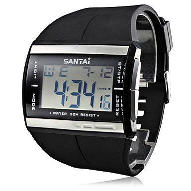 men s watch sports multi function lcd digital calendar wrist watch men s multi functional black rubber band digital wrist watch usd 8 99