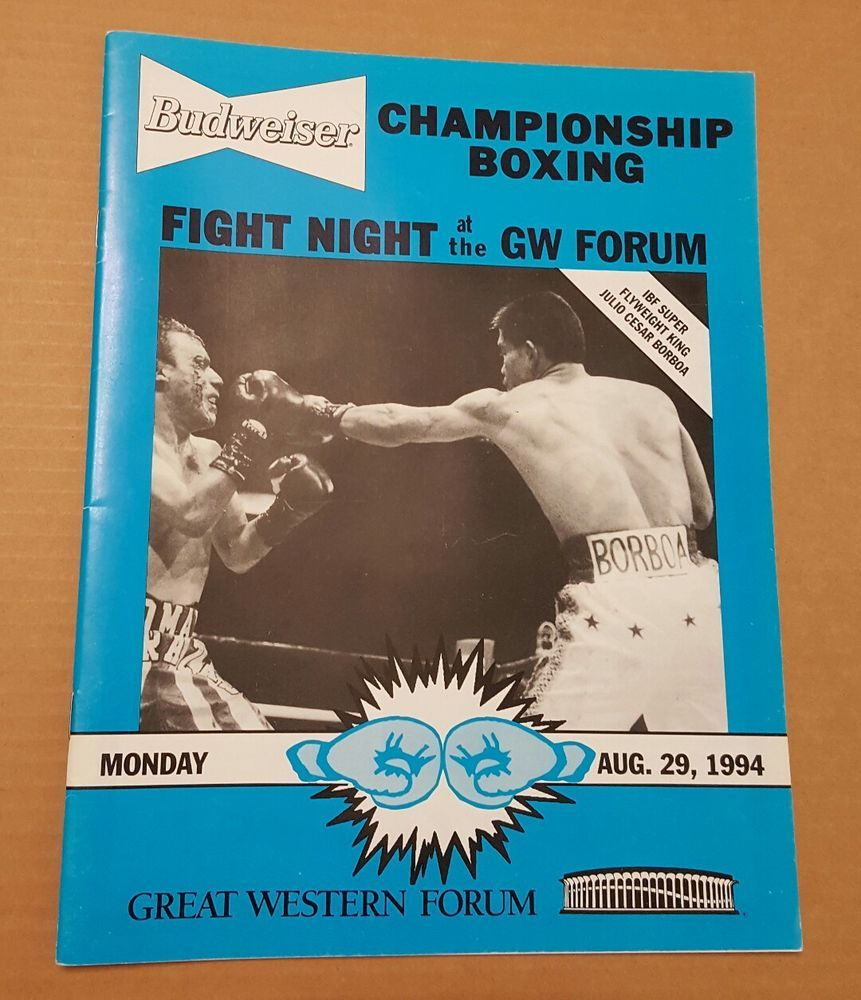 JULIO CESAR BORBOA Super Flyweight 1994 Western Forum Boxing Program CHIQUITA