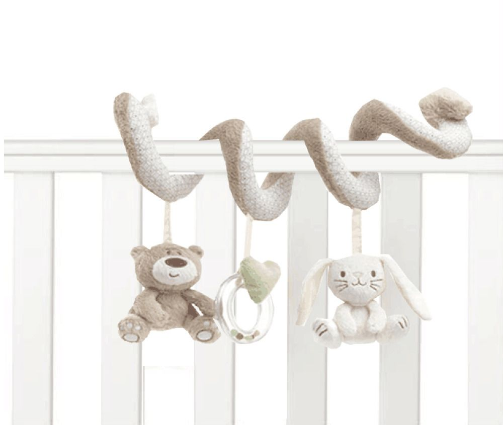 Baby Crib Toys Baby Bed Musical Mobile Soft Plush Rabbit Cot Stroller Hanging Rattle Toy Newborn Gift Sonajero Peluches Bebe