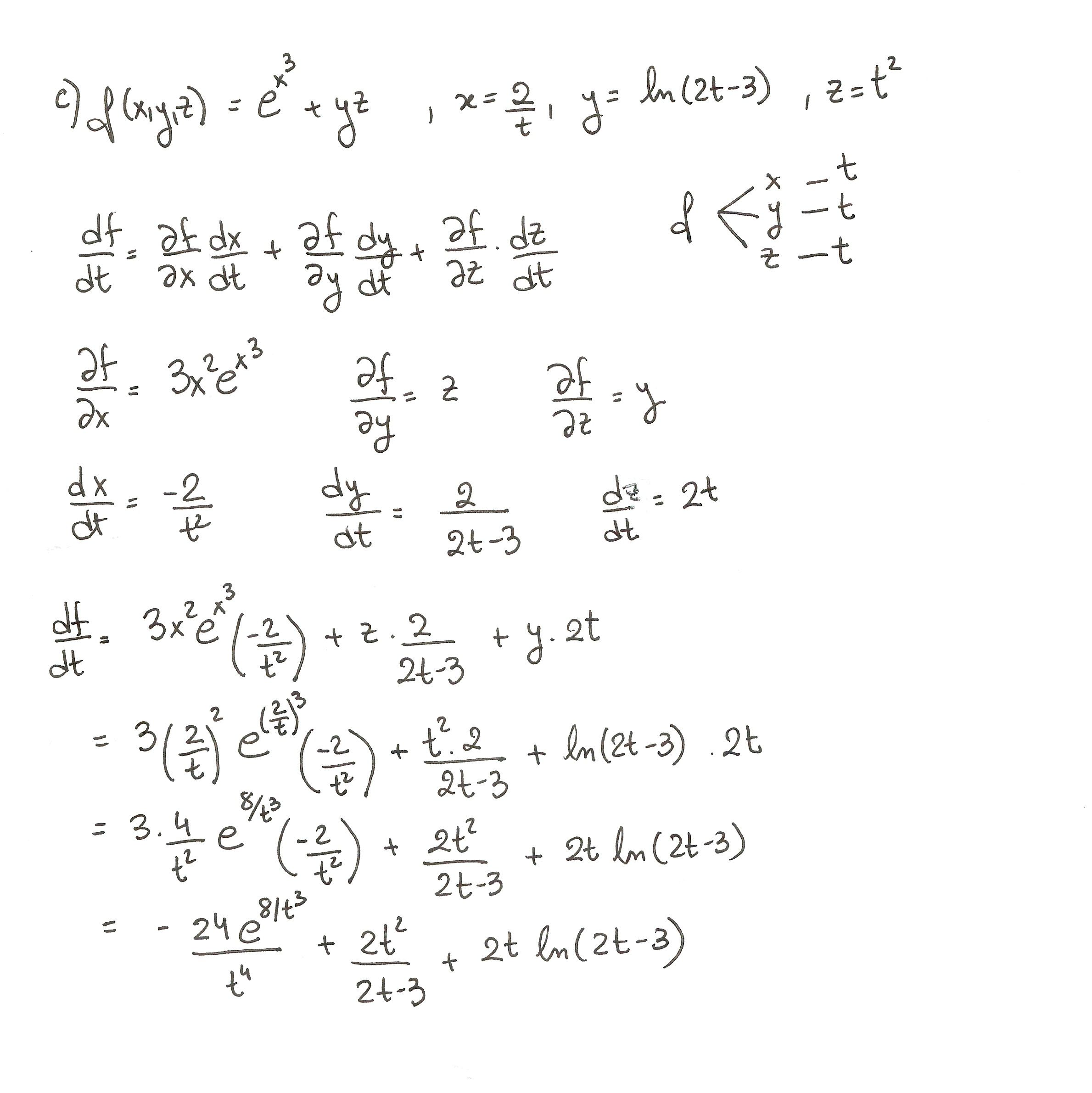 Ejercicio 3 Resuelto Tema Regla De La Cadena Funciones De Varias Variables India Facts Math Facts