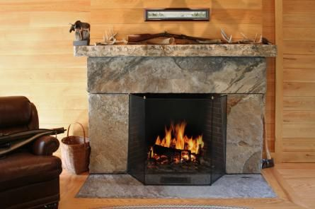 Champlain Stone Interior Fireplace Hearth Mantel Step