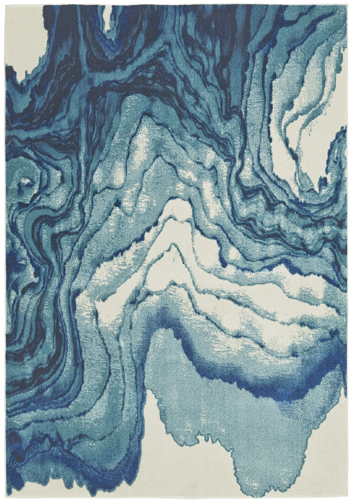 Watercolor Collection Power Loomed Polypropylene Area Rug In