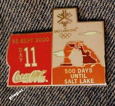 2000 Sydney Olympic Coca Cola Pin of the Day 11 ~Coke~Silver Set~Salt Lake City