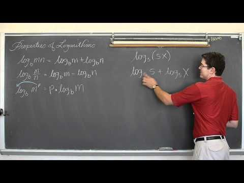 Using Properties of Logarithms to Expand Logs - YouTube