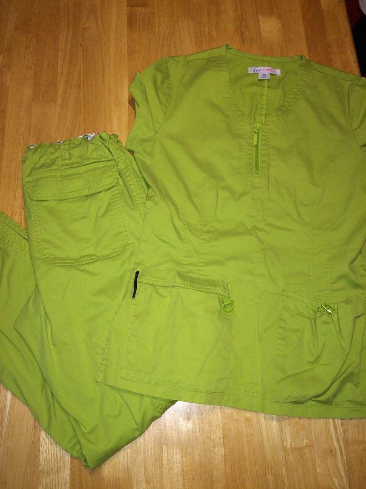 Koi Xs Tall Skinny Lindsey Stretch Mackenzie Green Top Pants Scrub Set   #Koi