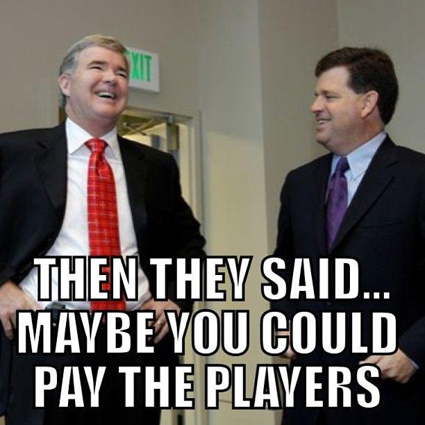 Image result for ncaa football money meme