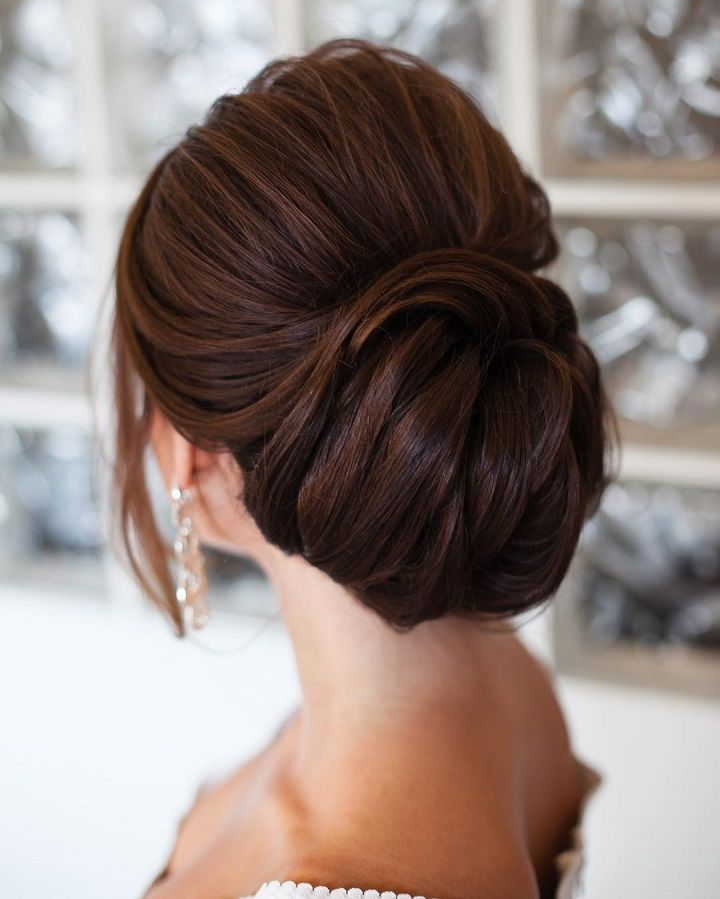 Wedding Hairstyle wedding updo hairstyle idea 4 via ulyana aster 4 Romantic Wedding Hairstyles To Complete Your Vision