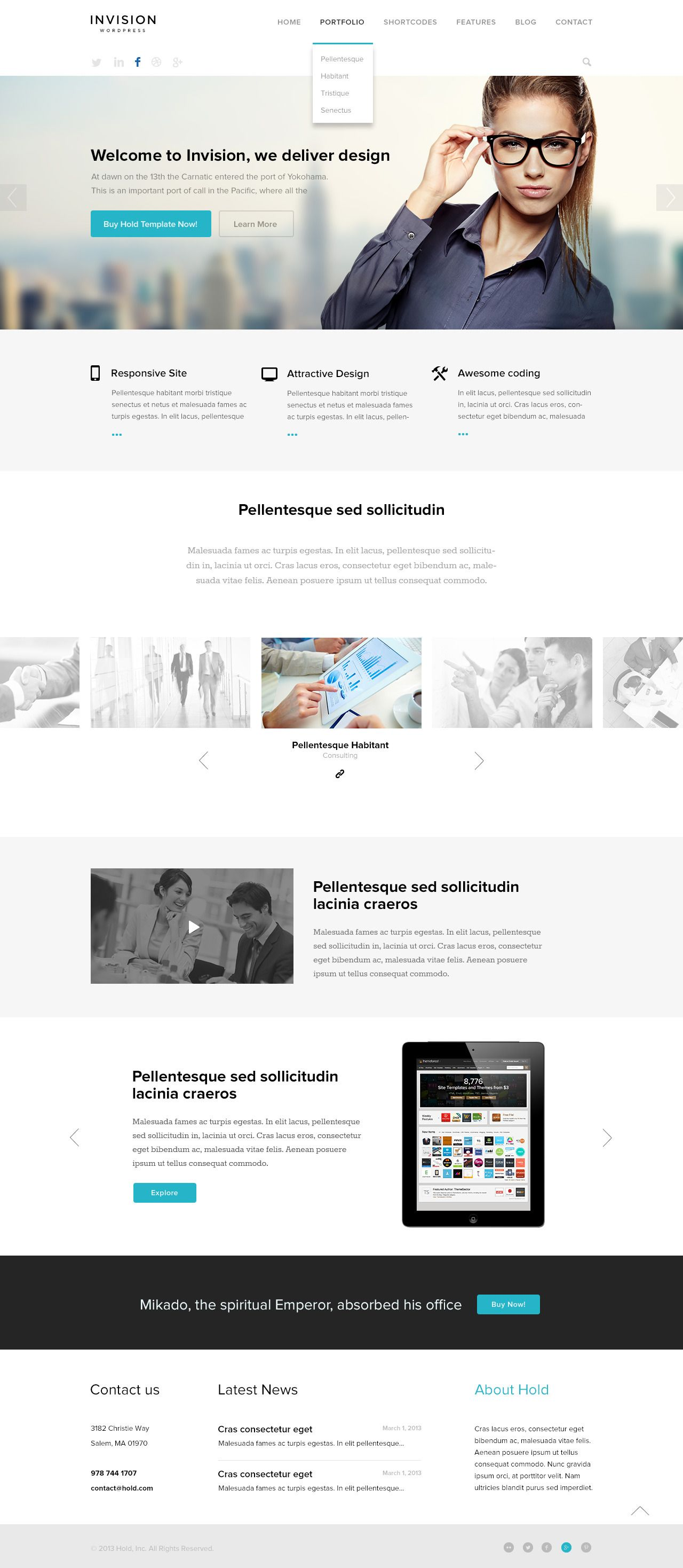 invision corporate psd template web design web design