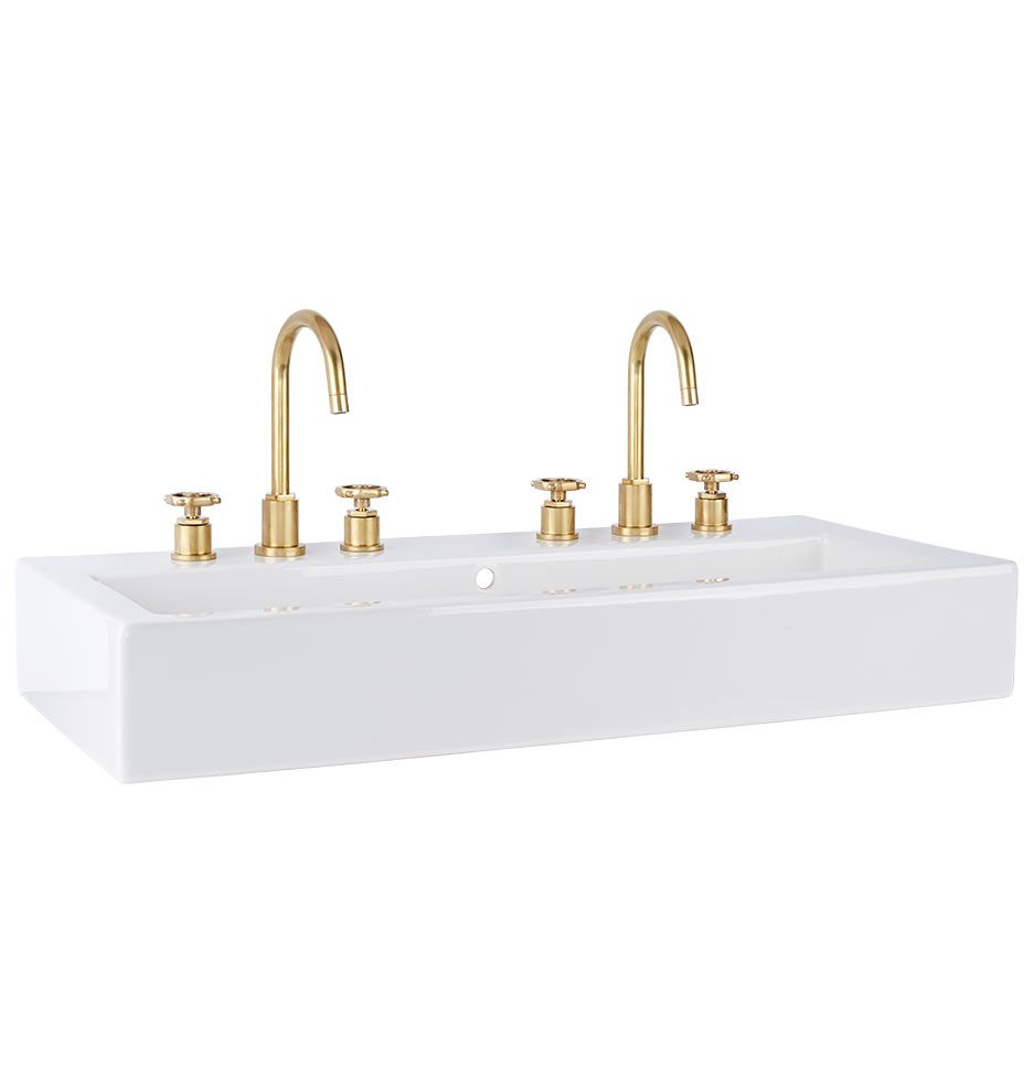 Winslow Wall-Mount Wide Sink | Wall mount, Sinks and Faucet