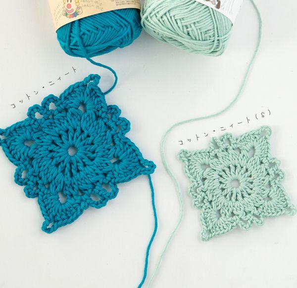 Square - free Japanese crochet pattern/chart   Needle crafts ...