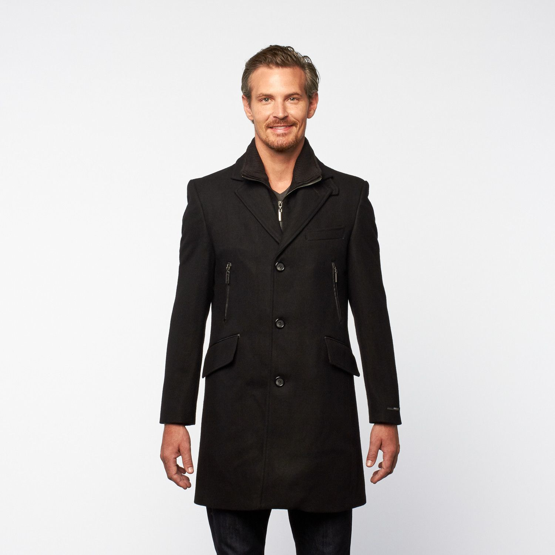 Georges Rech Wool Officers Top Coat Zipper Hand Warmers Black Coat Top Coat Hand Warmers [ 1500 x 1500 Pixel ]