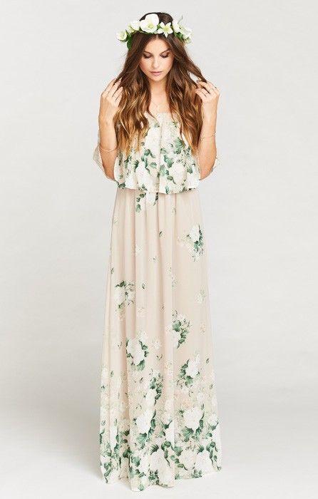 Hacienda Maxi Dress ~ Bouquet Toss