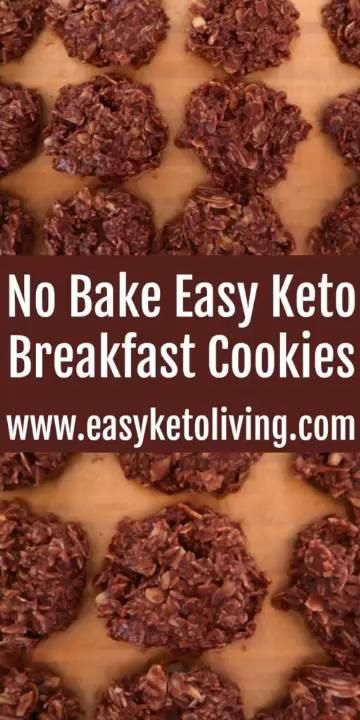 Photo of Keto Breakfast Cookies Recipe – Easy No Bake Low Carb, Keto, Gluten Free Chocolate Cookies & video.
