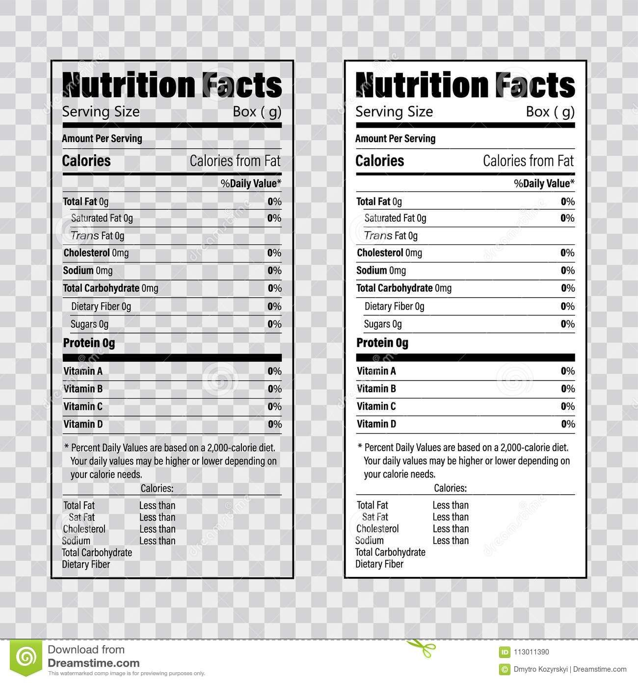 The Exciting Nutrition Label Template Facts Creator