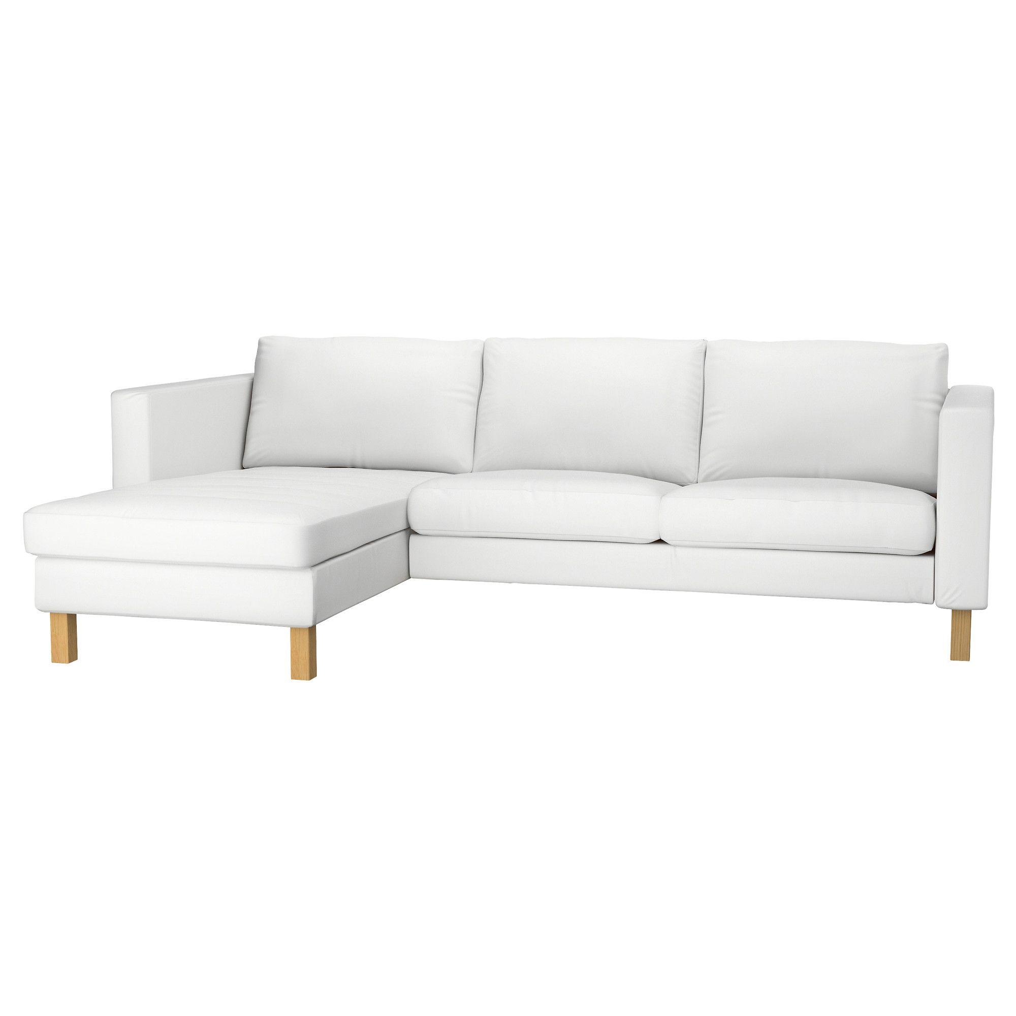 Ikea Canape Karlstad 2 Places #11: KARLSTAD Canapé 2 Places+méridienne - Blekinge Blanc - IKEA