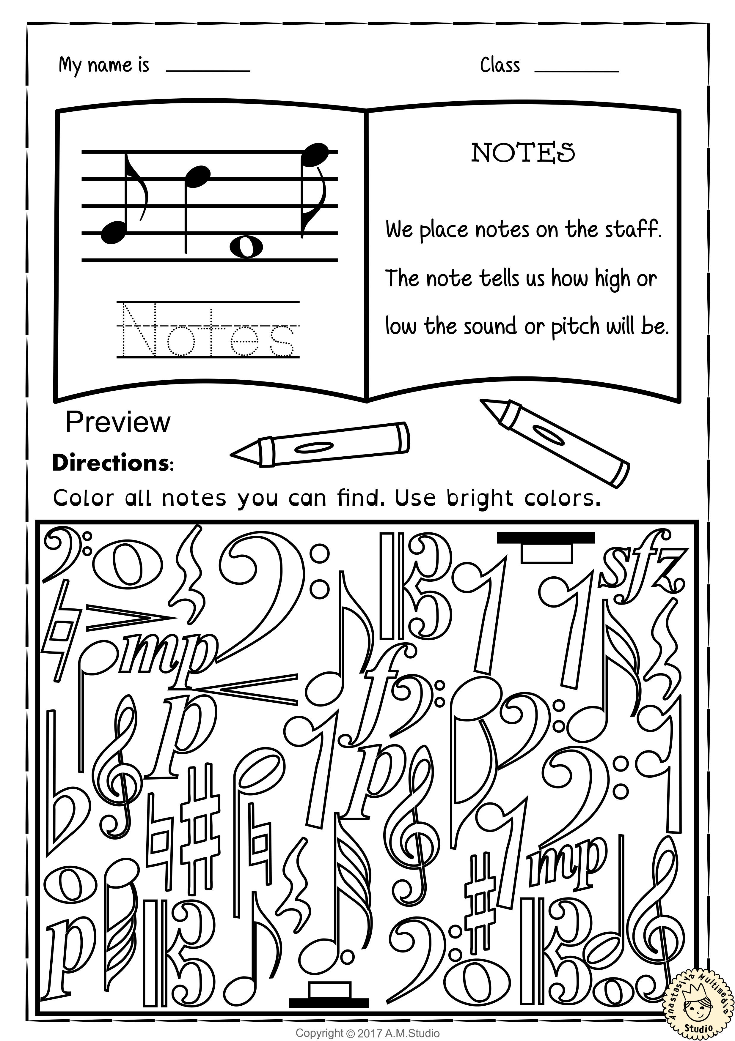 LinearInspiring Elementary Music Worksheets #ElementaryMusic