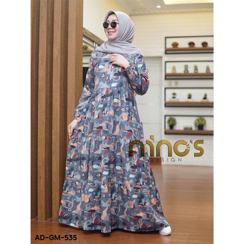 Model Gamis Terbaru Motif Bunga2 Model Pakaian Wanita Model Pakaian Pakaian Wanita