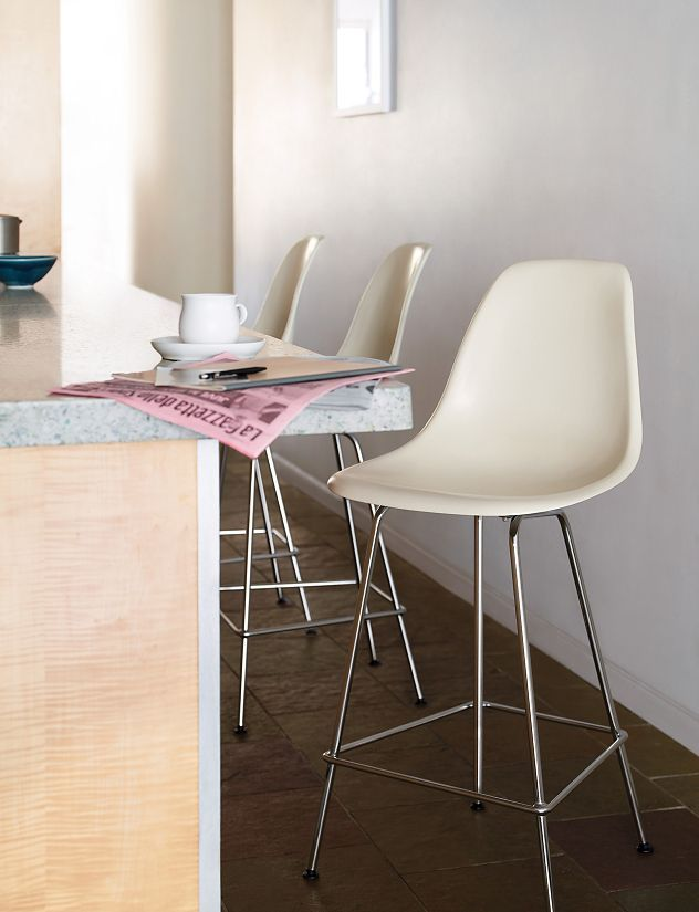 Eames® Molded Fiberglass Counter Stool, DFHCX Eames Bar Stool, Eames Chairs,  Eames