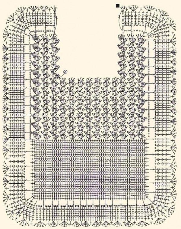 Bib diagram only - Patrón babero ganchillo | bebe | Pinterest ...