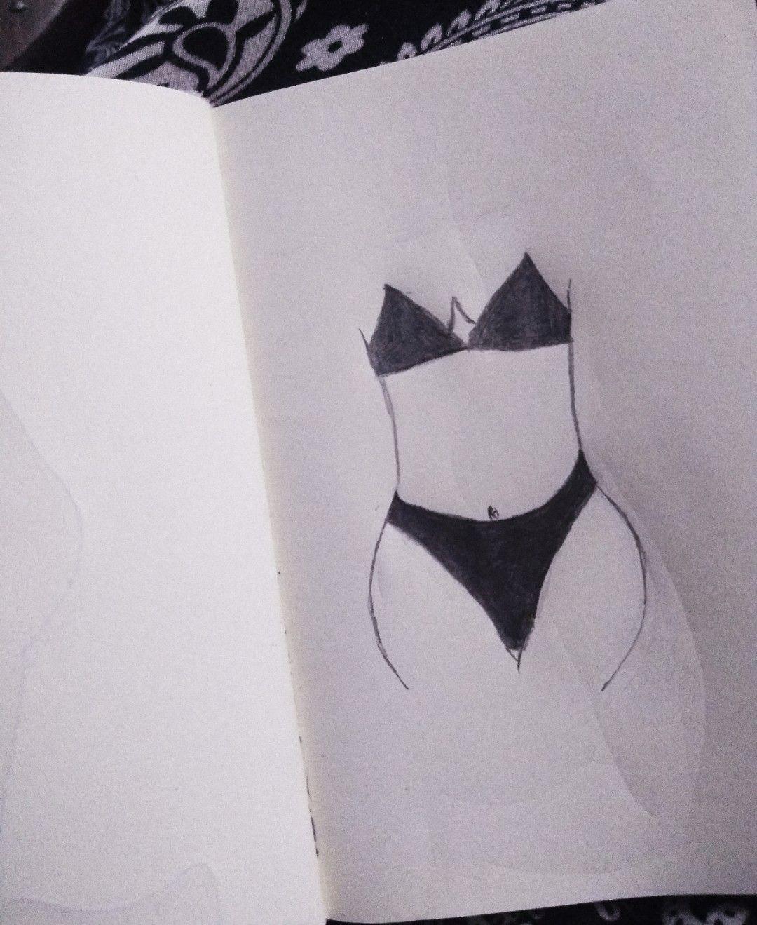 32bcbd473 Desenho. Roupa íntima. Corpo. Mulher. Curvas. ❤ .