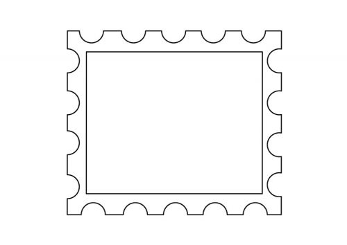 Postage Stamp Template  Fall Projects    Template