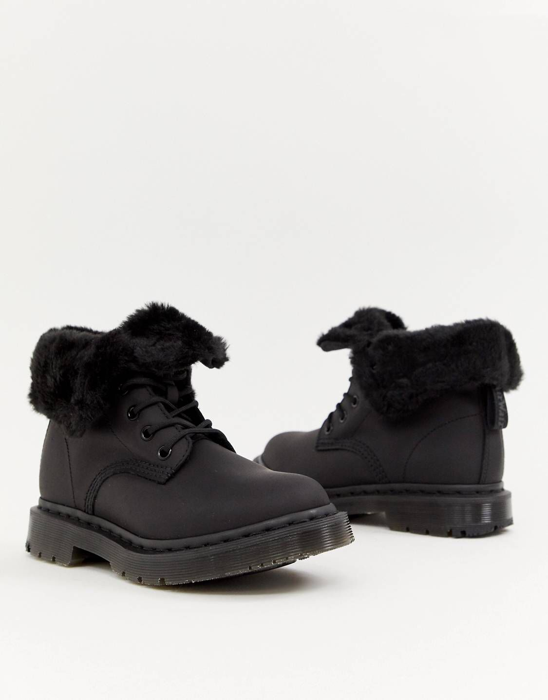 watch low cost various styles Dr Martens 1460 Kolbert Black Leather Snowgrip Flat Ankle ...