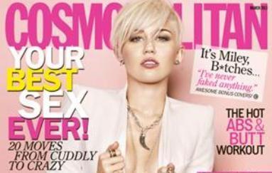 Miley Cyrus posa sem sutiã em ensaio para revista