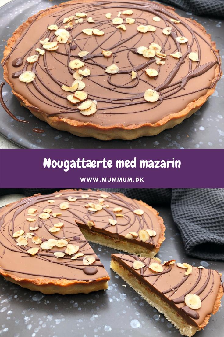 Nougattærte med mazarin