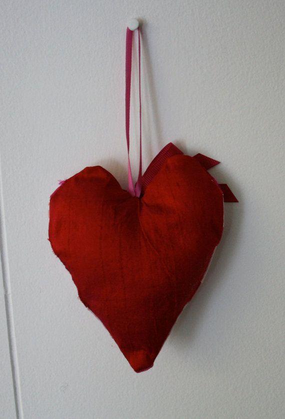 Handmade Heart Pink Sherbert par yarnsandfabrics sur Etsy, £10.00