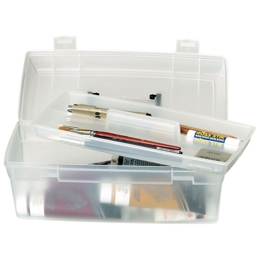Artbin Essentials Lift Out Tray Boxes Clear Plastic Box Storage Craft Supply Storage Storage