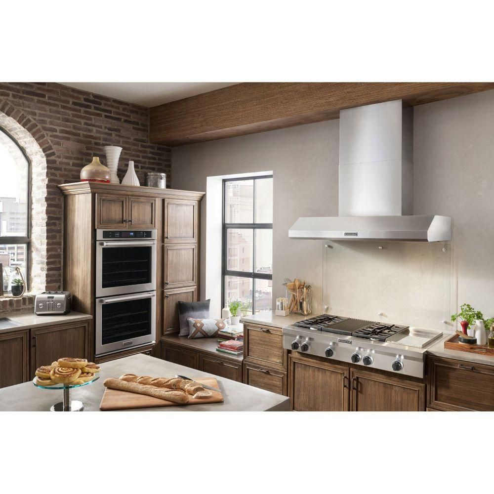 Captivating KitchenAid 48 In. Gas Cooktop In Stainless Steel With Grill, Griddle And 4  Burners KGCU484VSS   The Home Depot
