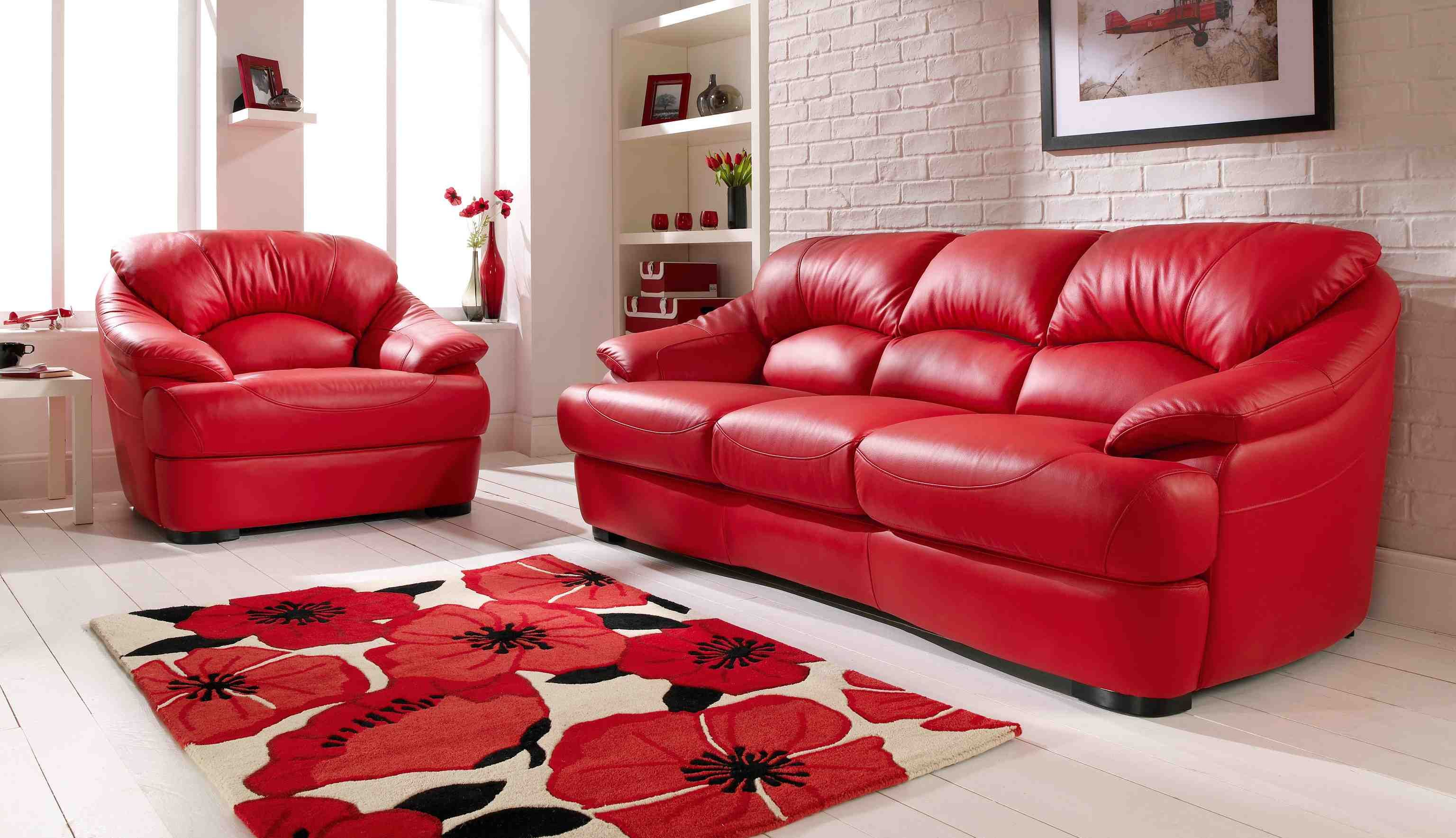 Red Leather Sofa Living Room Ideas – Modern House