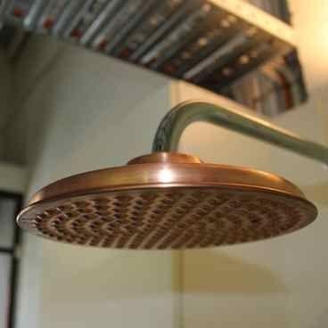 Natura Copper Overhead Outdoor Shower 200mm Badrum
