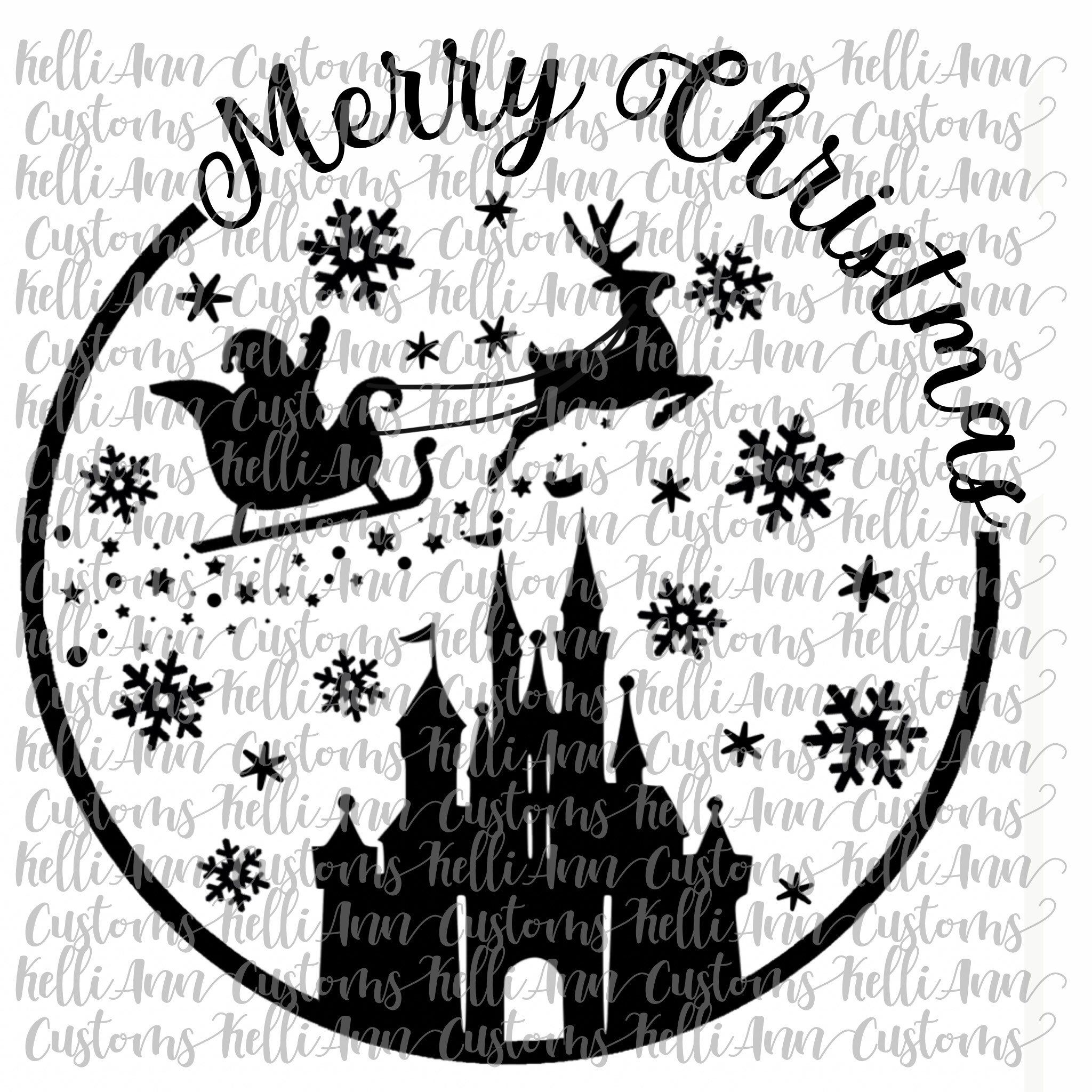 Merry Christmas Digital Download Disney Merry Christmas Svg Etsy Disney Christmas Crafts Disney Christmas Shirts Disney Christmas