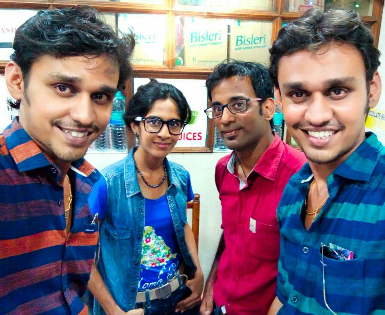With media coordinators Arun Arvind Twins at Radaan