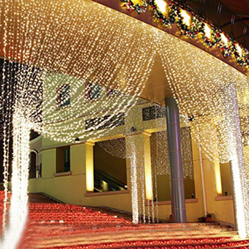 3mx3m 300 led white bulb fairy string light curtain lamp wedding 3mx3m 300 led white bulb fairy string light curtain lamp wedding party wedding decor outdoor li junglespirit Gallery