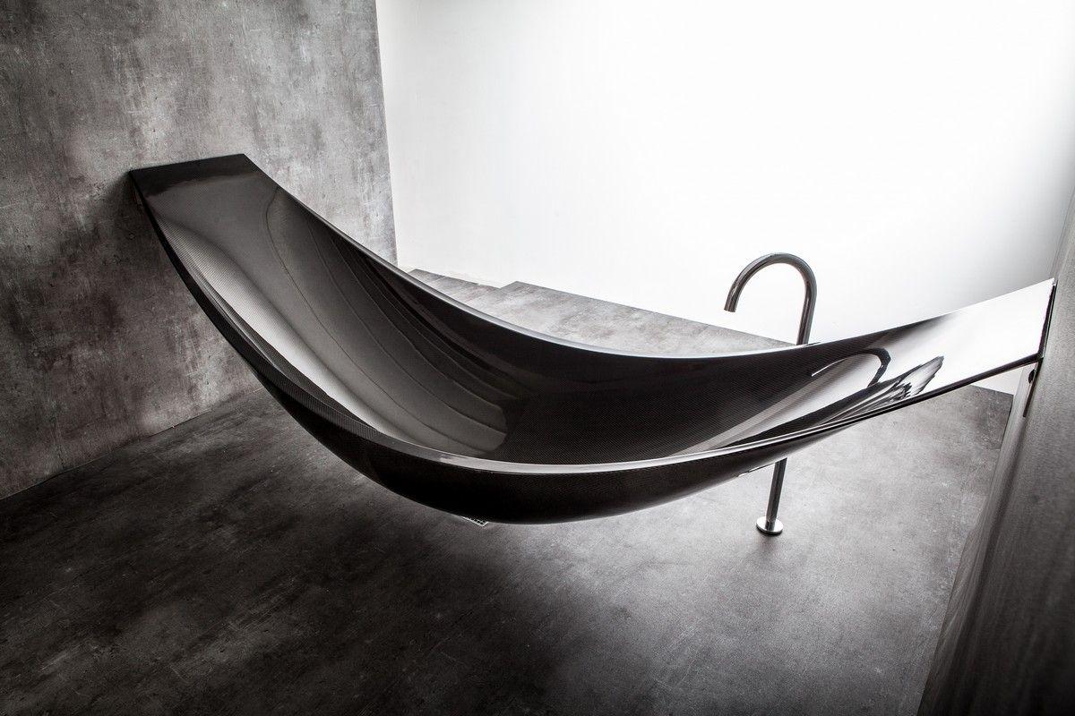 The Art Of Relaxation Bathtub And Hammock Combined By Splinter Works Hangematte Ideen Badewanne Und Holzbadewanne