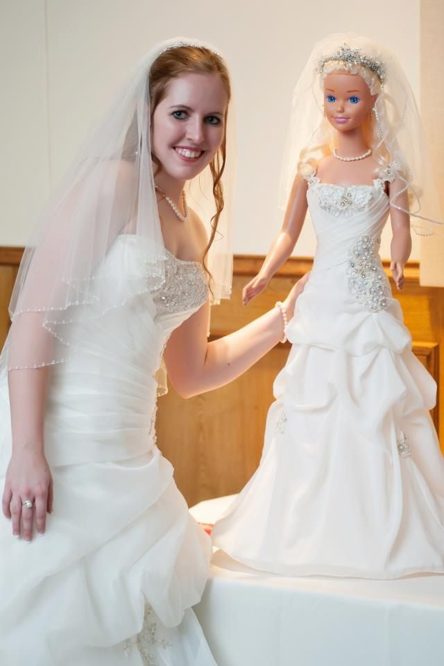 Dressed Courtney Old Life Size Barbie Doll For Her Wedding Life
