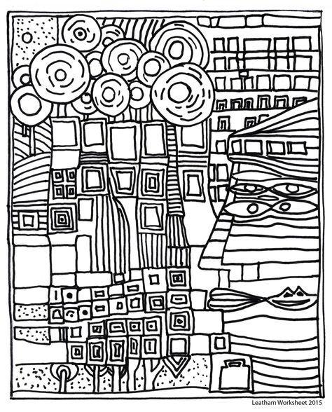 Pin Von J Auf 01 Hundertwasser Kunststunden Linienzuge