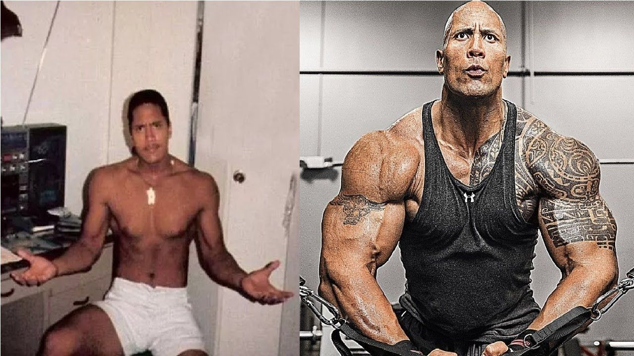 dwayne johnson quot the rockquot transformation from 1 to 45