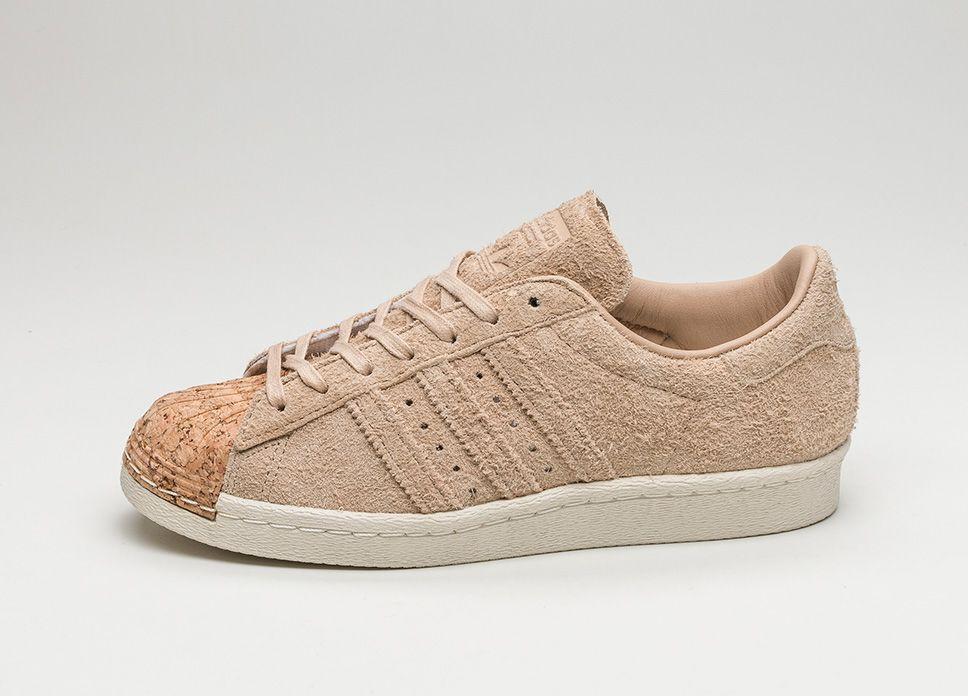 Adidas superstar degli anni '80, cork (pallido nudo / pallido nudo / bianco) lpu