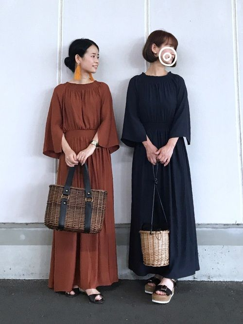 yuki jeanasisのワンピースを使ったコーディネート wear ファッション ファッションコーディネート ワンピース