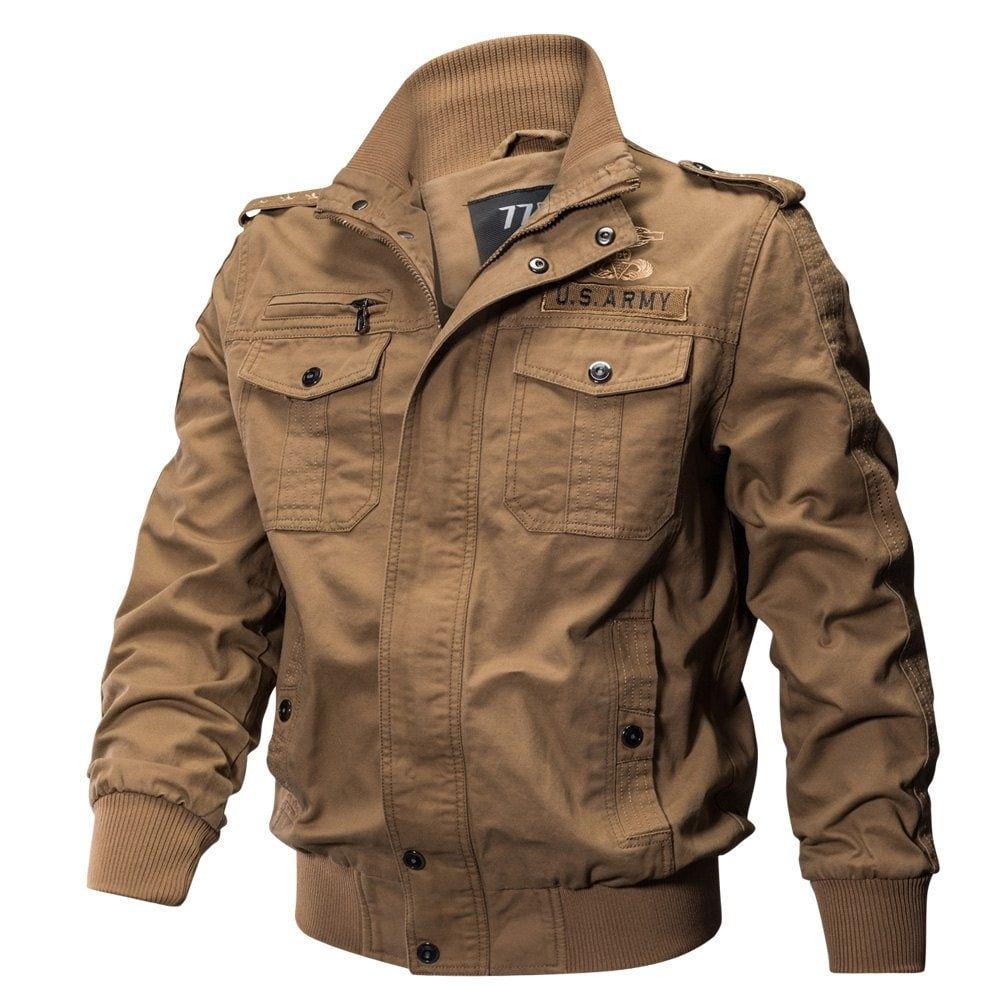 Military Equipment Multi Pockets Cotton Coat Military Bomber Jacket Jackets Men Fashion Plus Size Military Jacket [ 1000 x 1000 Pixel ]