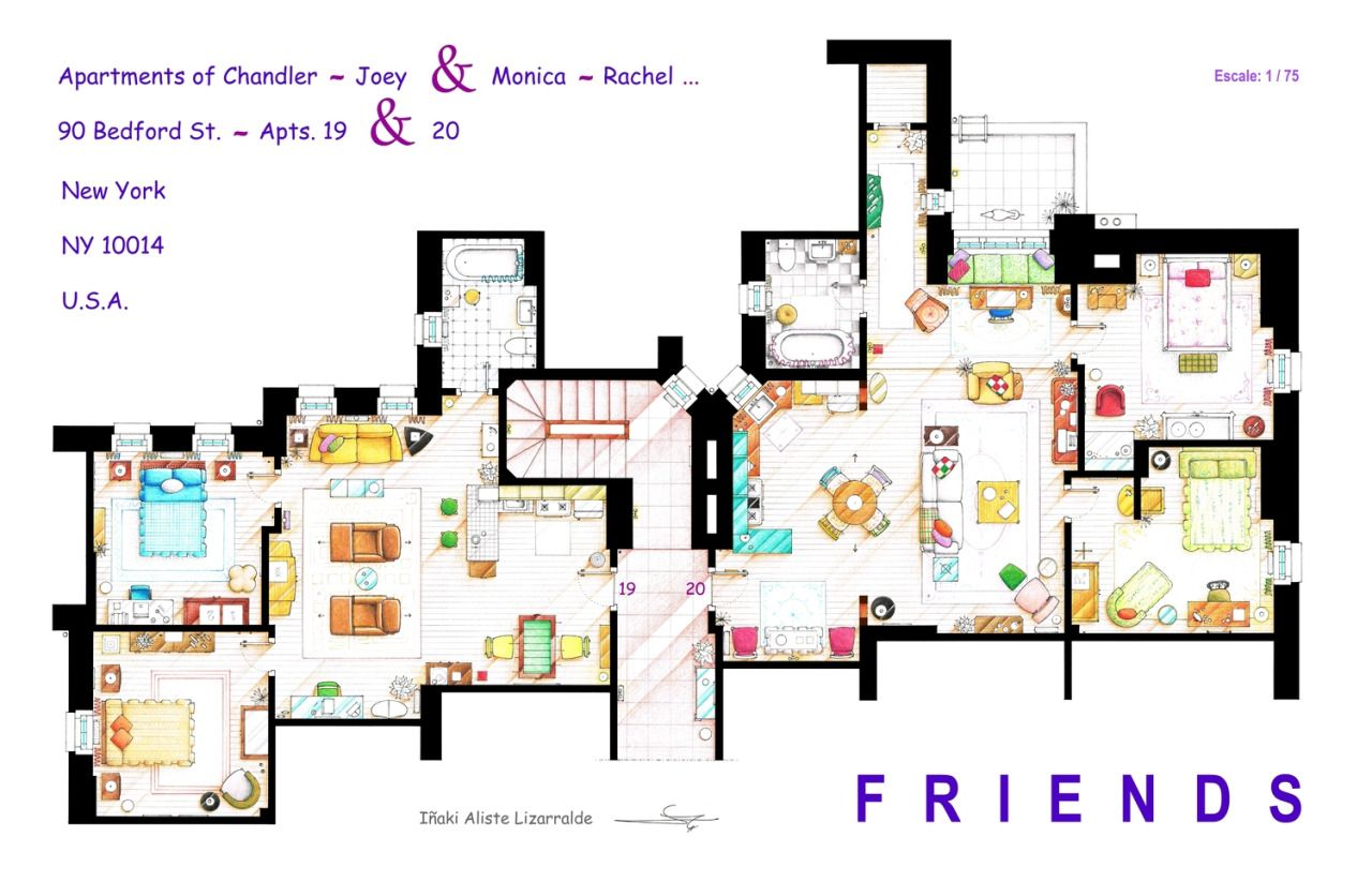 Friends Apartment S Floorplans Version 2 This Handmade